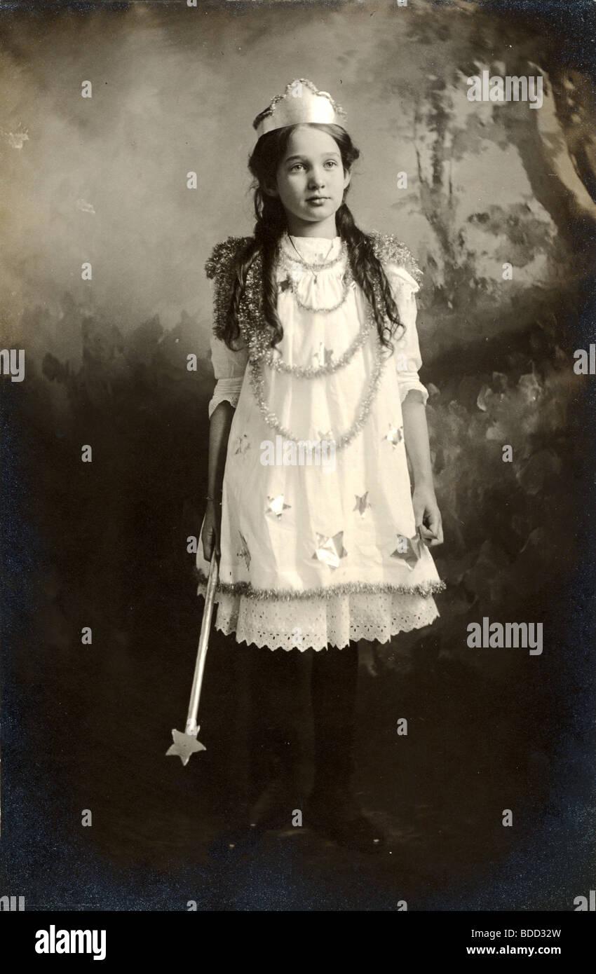 Fairytale Princess with Magic Wand - Stock Image