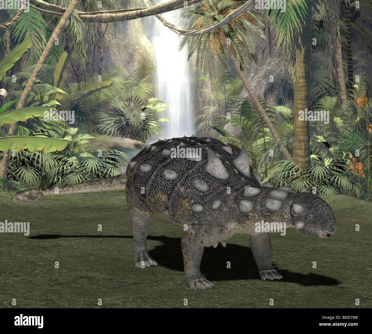 dinosaur euoplocephalus Stock Photo