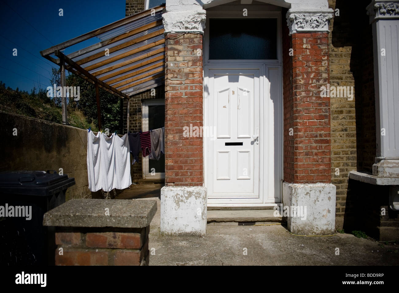 tipical periphery london's house in seven sister - Stock Image