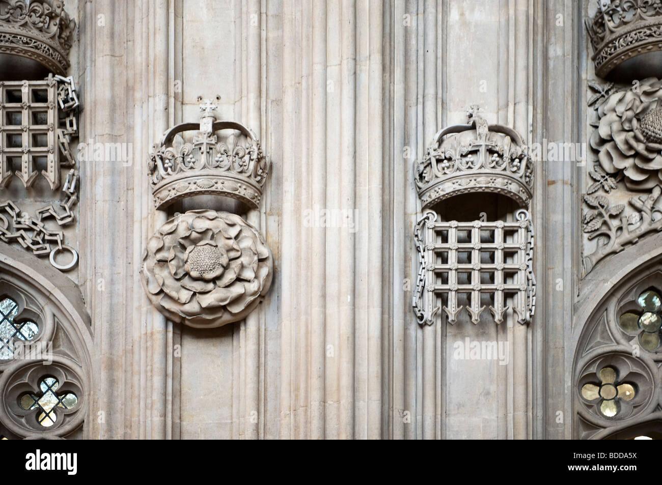 Detail Images of Trinity College Chapel, Cambridge, UK - Stock Image