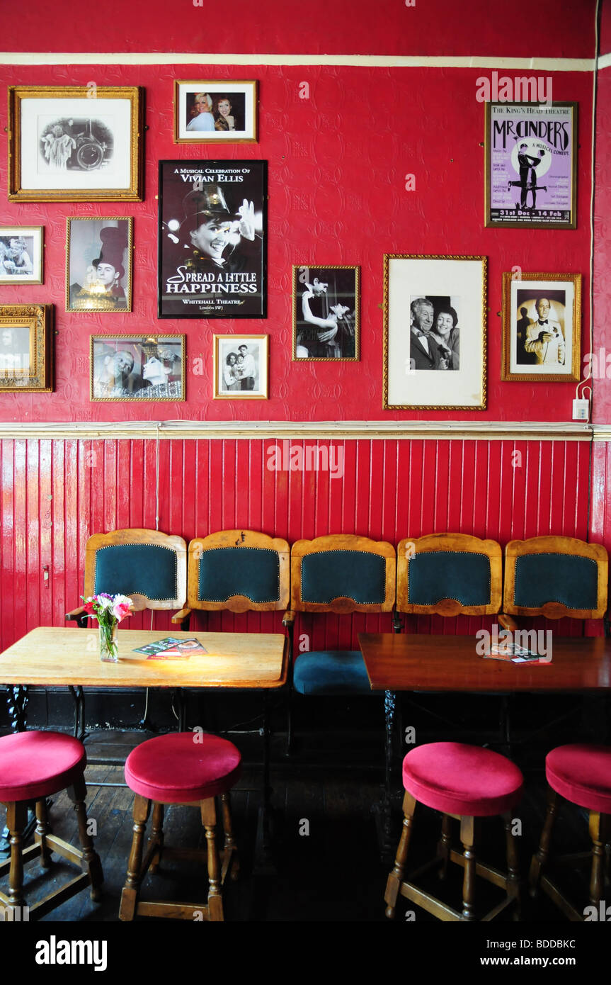 The Kings Head theatre pub, Islington, London, UK - Stock Image