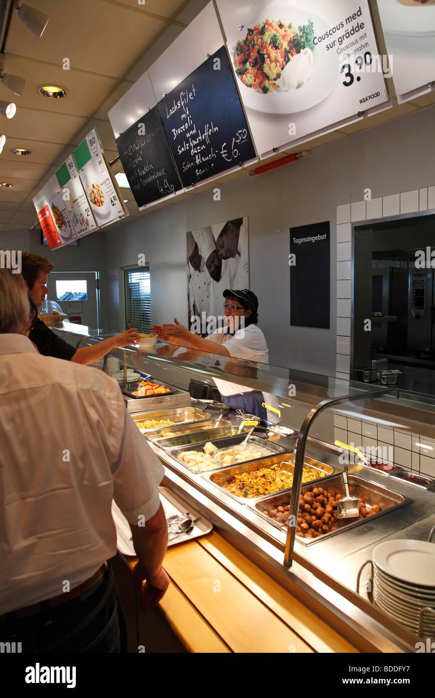 Self Service In A Ikea Restaurant Stock Photo 25498795 Alamy
