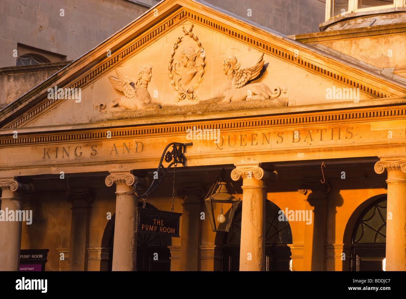Pump House Roman Baths Bath Avon England - Stock Image