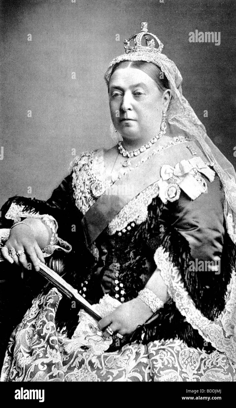 QUEEN VICTORIA  (1819-1901) about 1887 - Stock Image