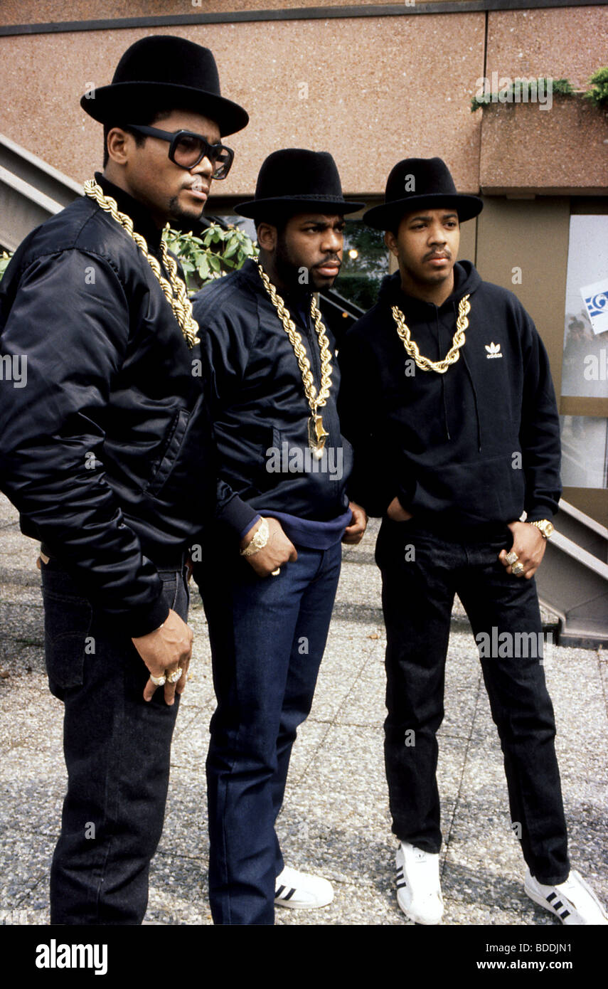 RUN DMC - US rap group in 1987 - Stock Image