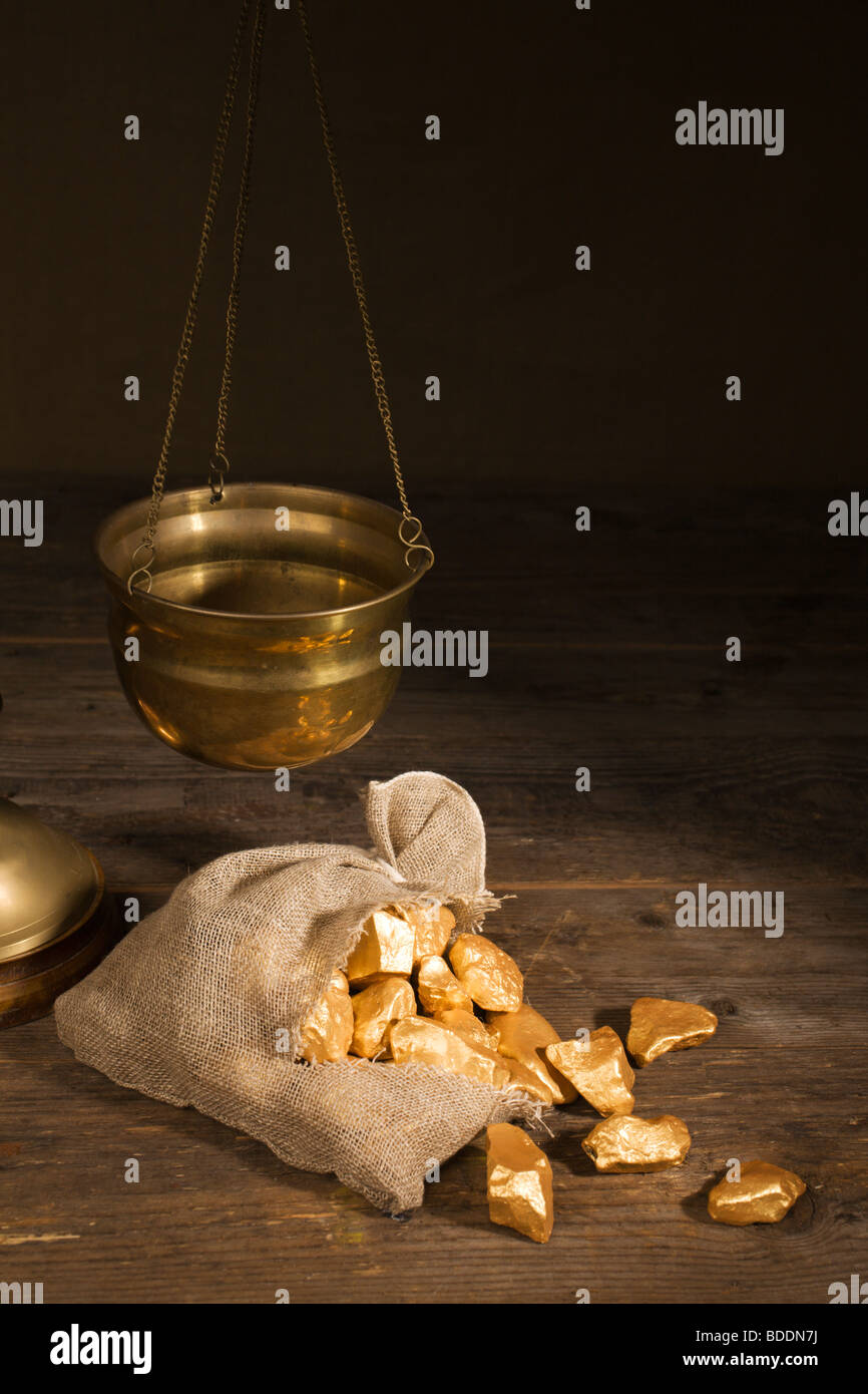 Gold trading. - Stock Image