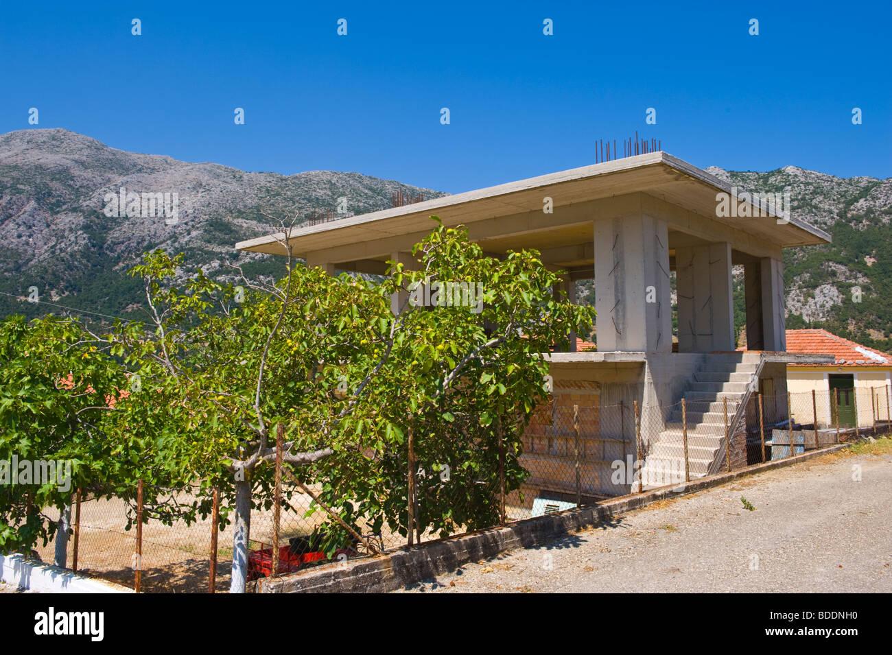 House under construction in the rural village of Agios Nikolaos on the Greek island of Kefalonia Greece GR Stock Photo