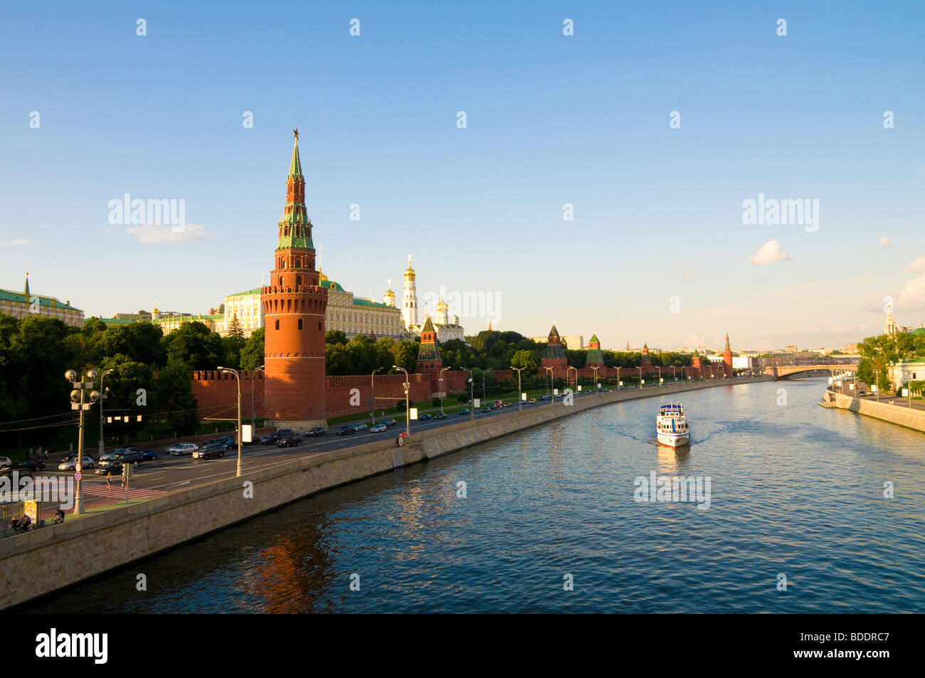 An embankment of Moscow Kremlin is in Russia - Stock Image