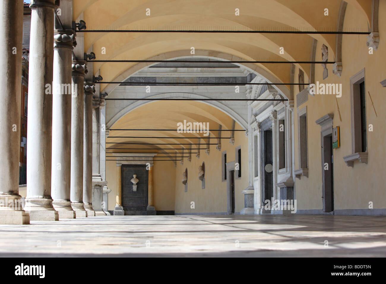 The Loggia of San Giovanni in Piazza Libertà, Udine, Friuli Venezia Giulia, Italy - Stock Image