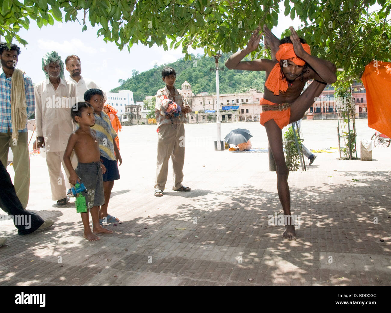 A Sadhu an ascetic or practitioner of yoga (yogi) - Stock Image