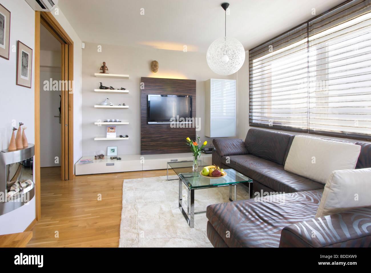 Modern sitting room - Stock Image
