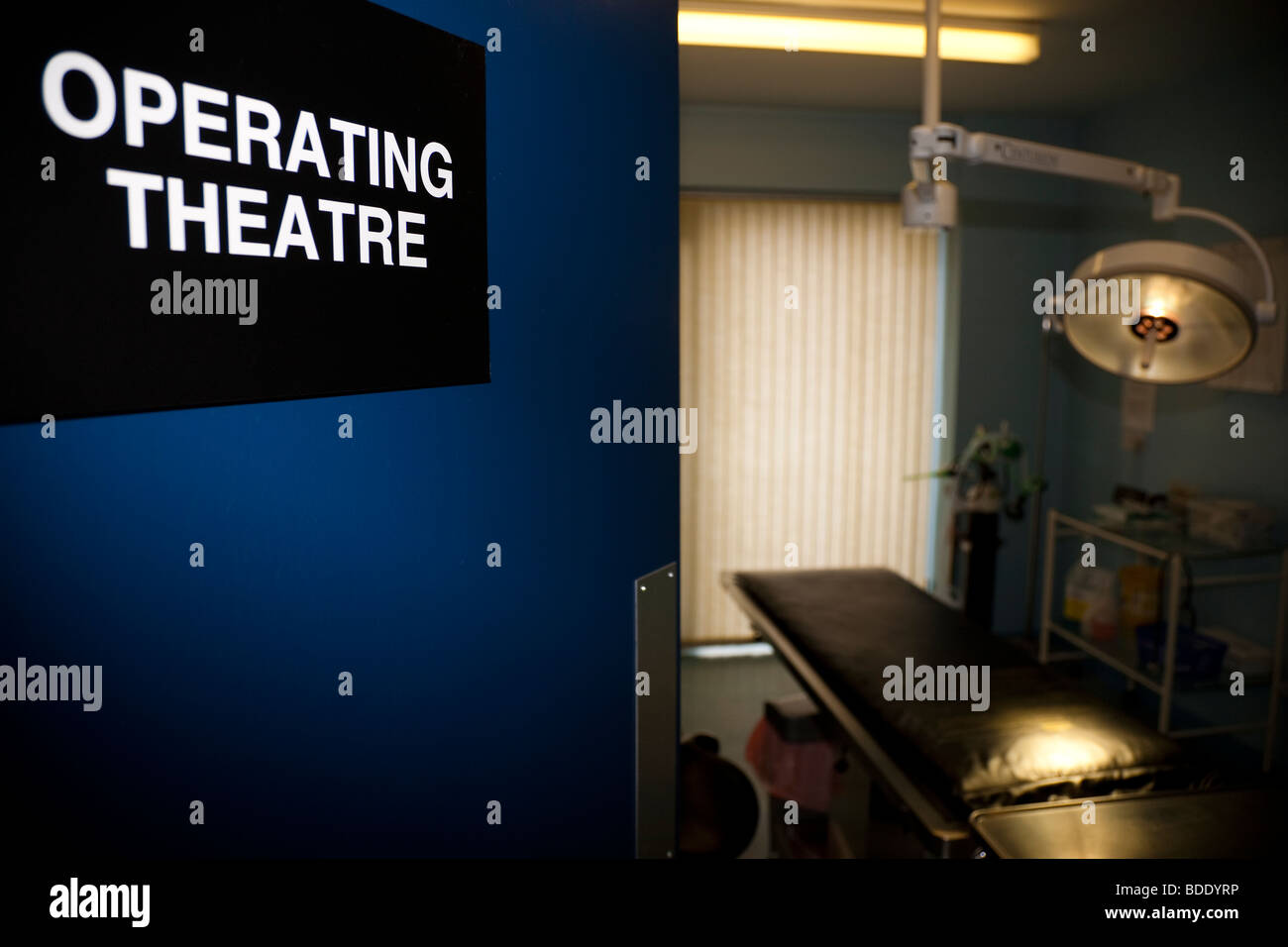 Operating Theatre with Door Open - Stock Image
