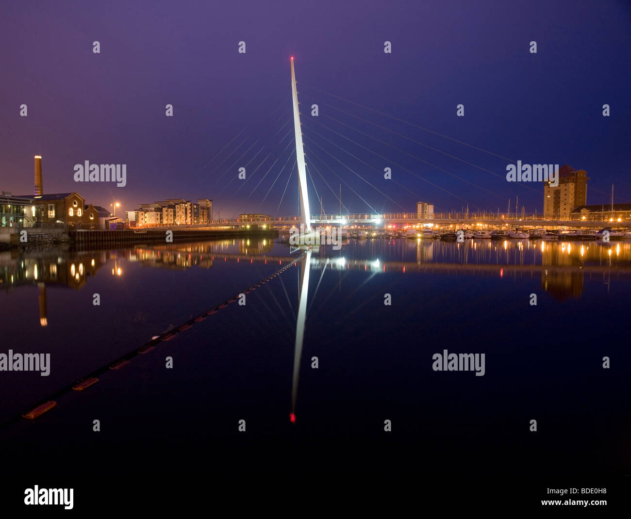 Sail Bridge, Swansea, Wales - Stock Image
