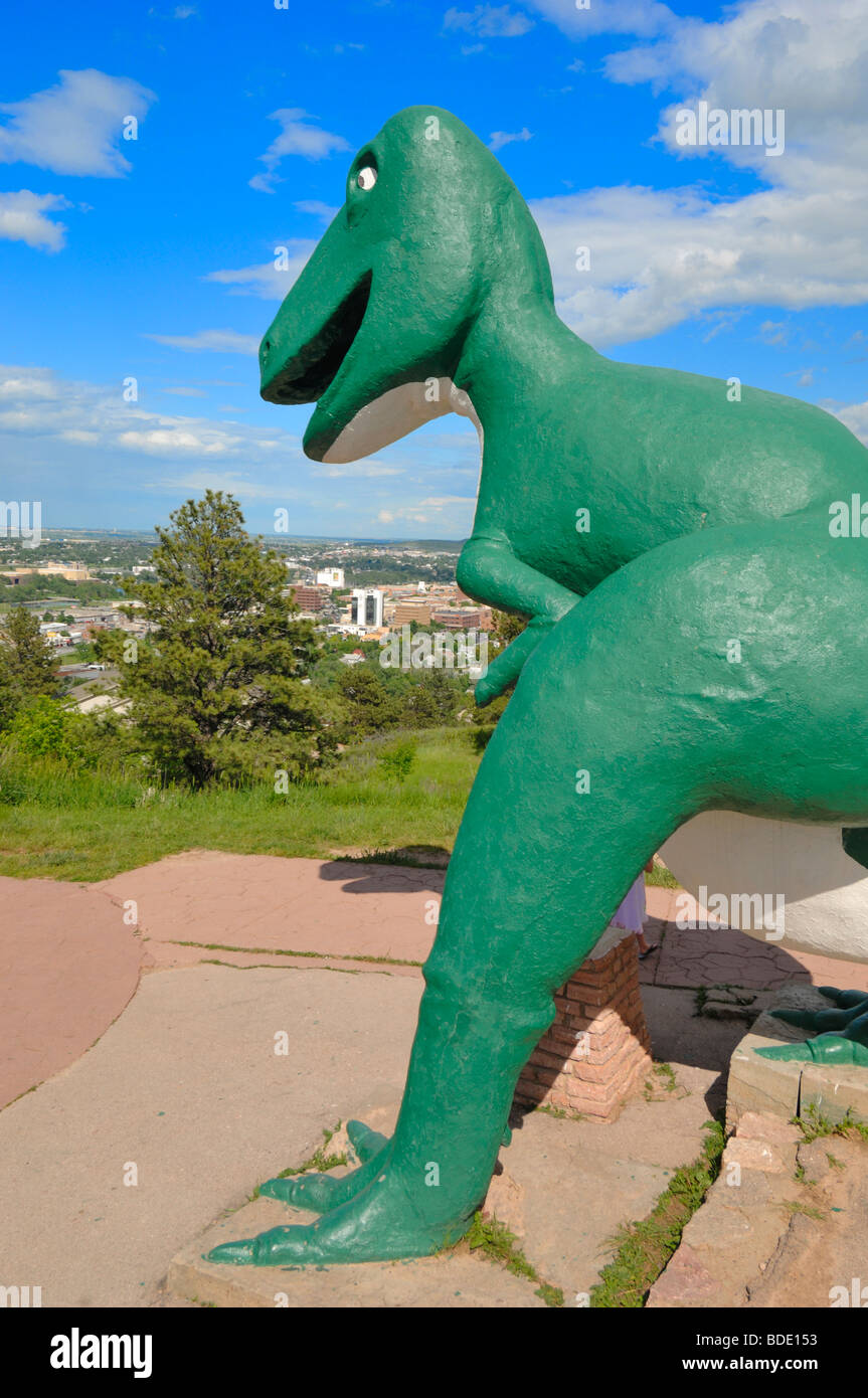 Dinosaur Park is a tourist attraction in Rapid City, South Dakota, United States. - Stock Image