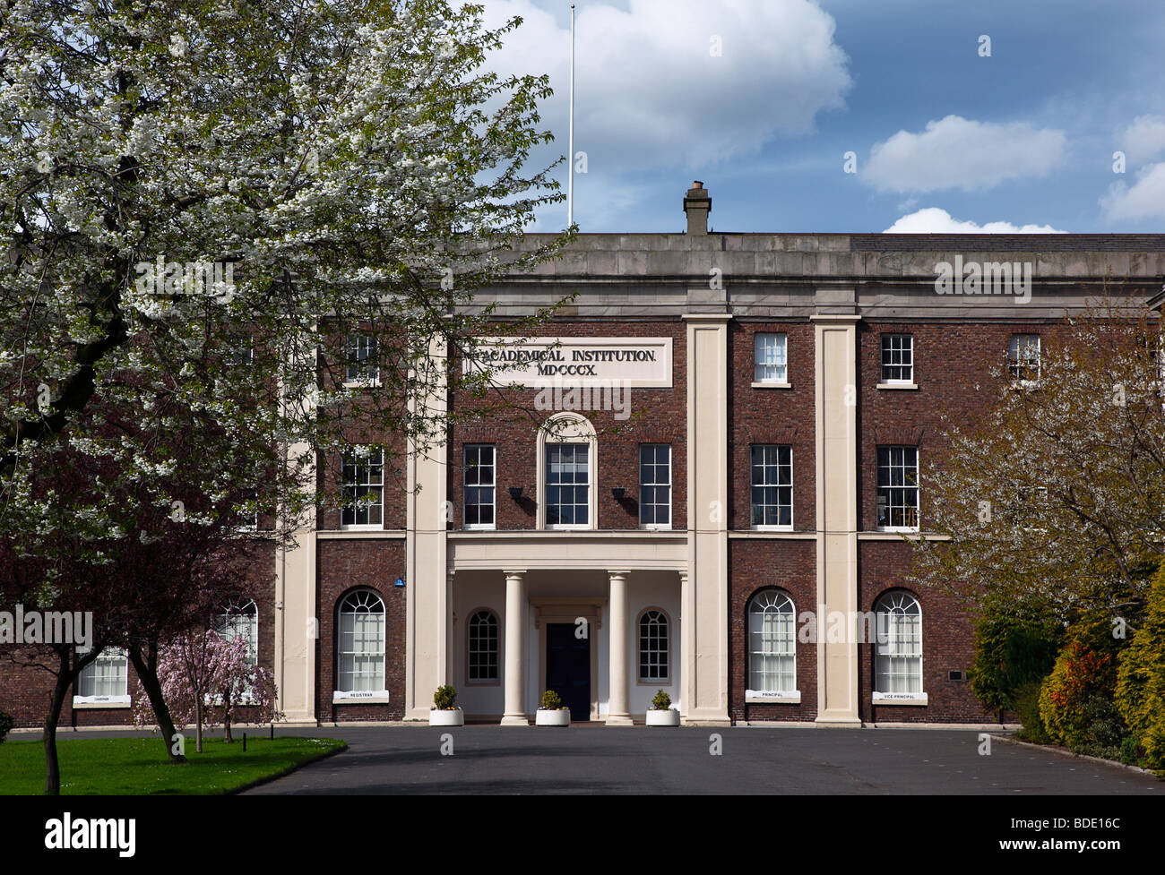 IRELAND, North, Belfast, College Square East, Entrance to Belfast Academical Institute Collece, known as INST. - Stock Image