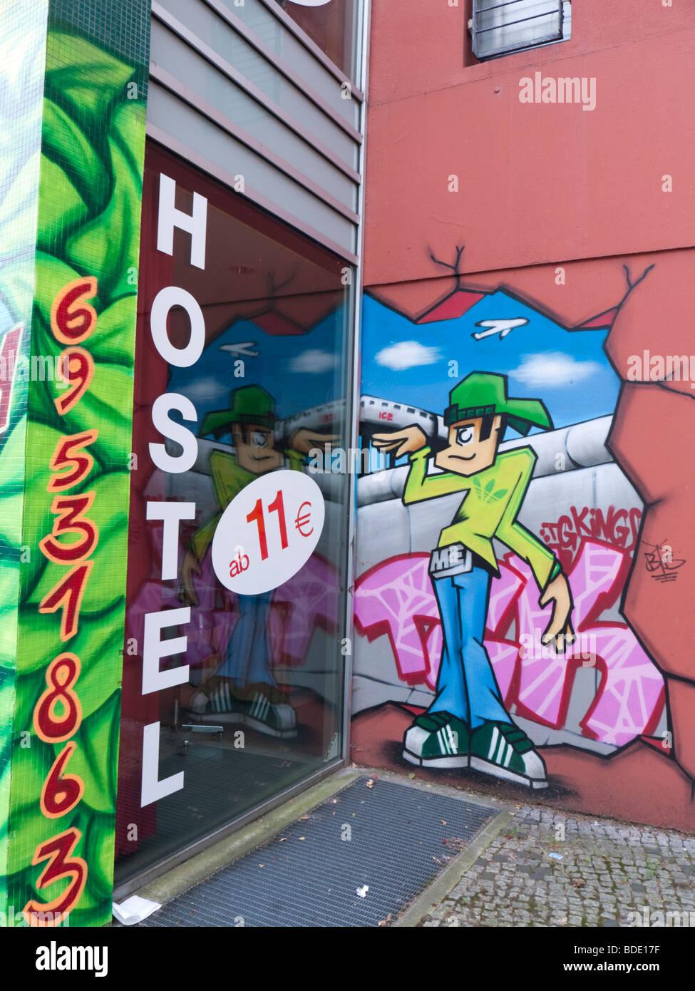 Xberger Hostel in Kreuzberg is one of an increasing number of low cost hostels in Berlin Germany - Stock Image