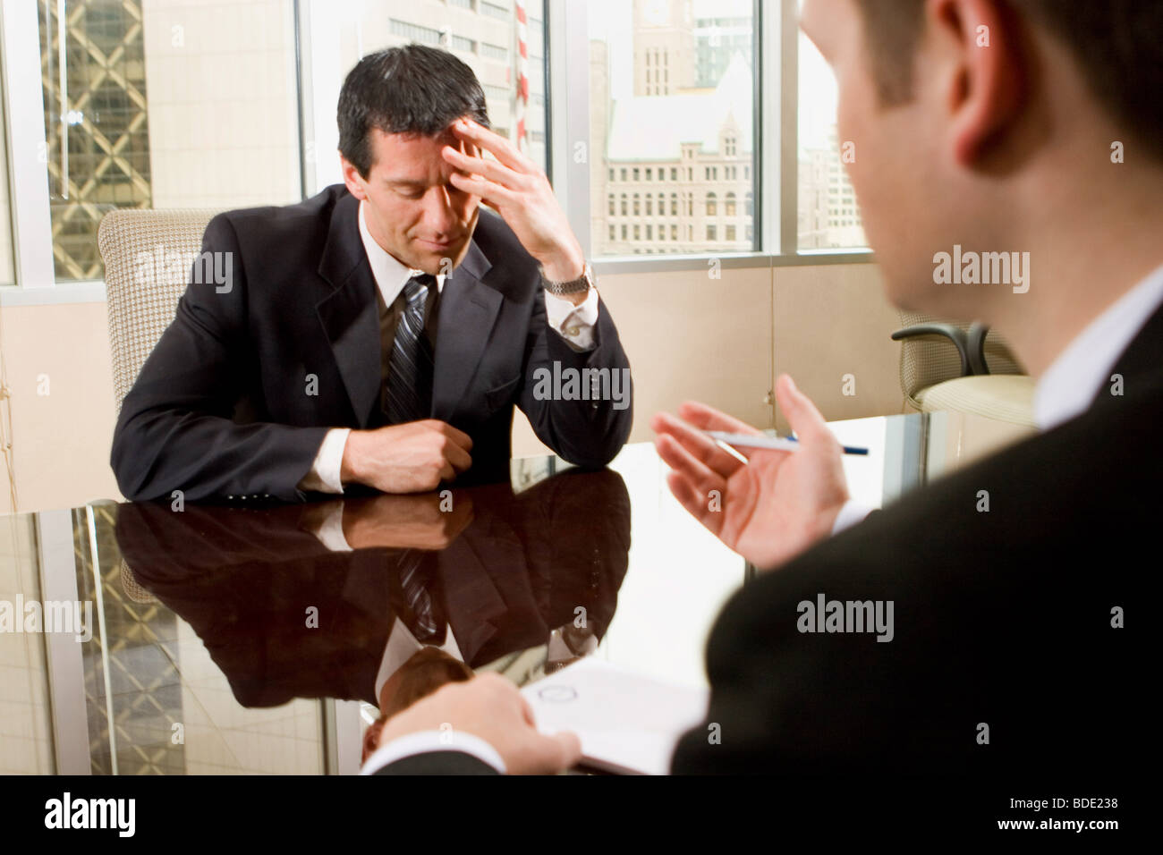Professional Business Team attending a meeting in conference room - Stock Image