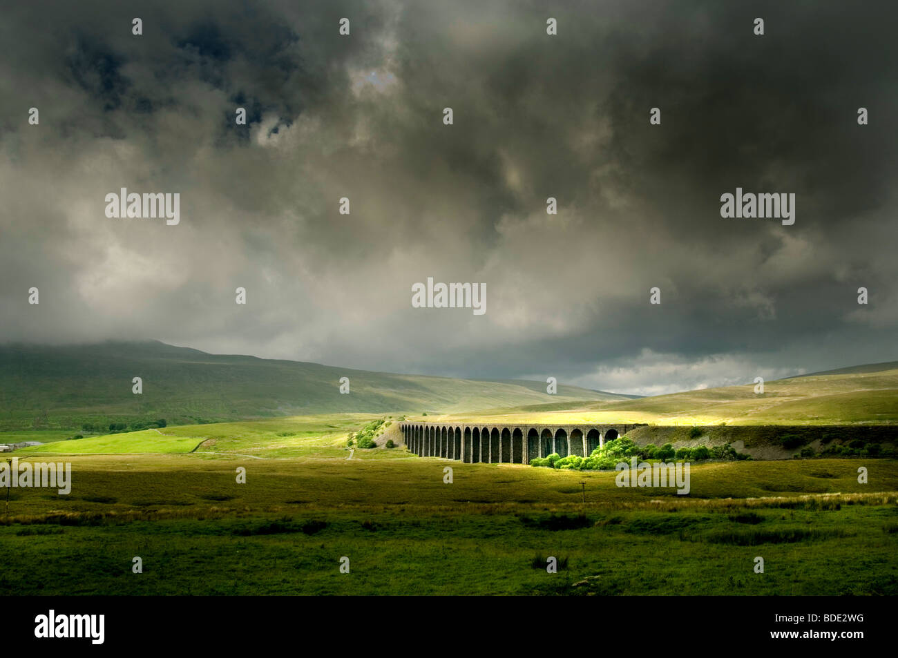 Ribblehead Viaduct, in the Yorkshire Dales - Stock Image