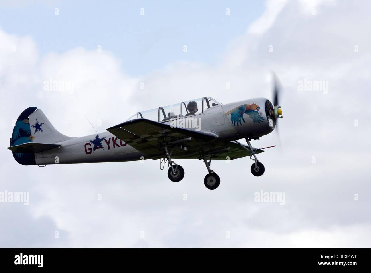 Cossacks aerobatic team Yakolev Yak-52 - Stock Image