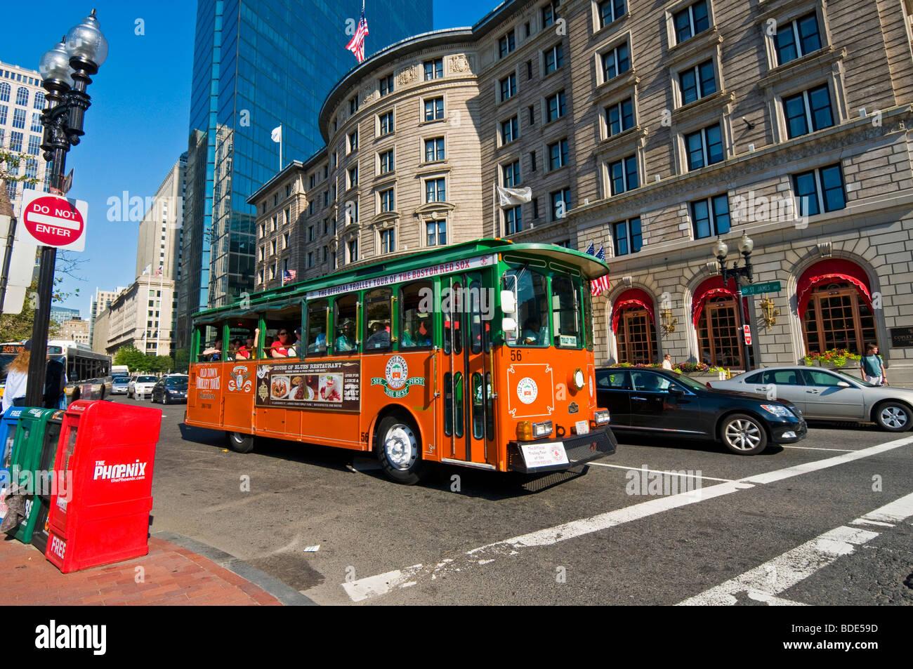 St James street  downtown Boston Massachusetts - Stock Image