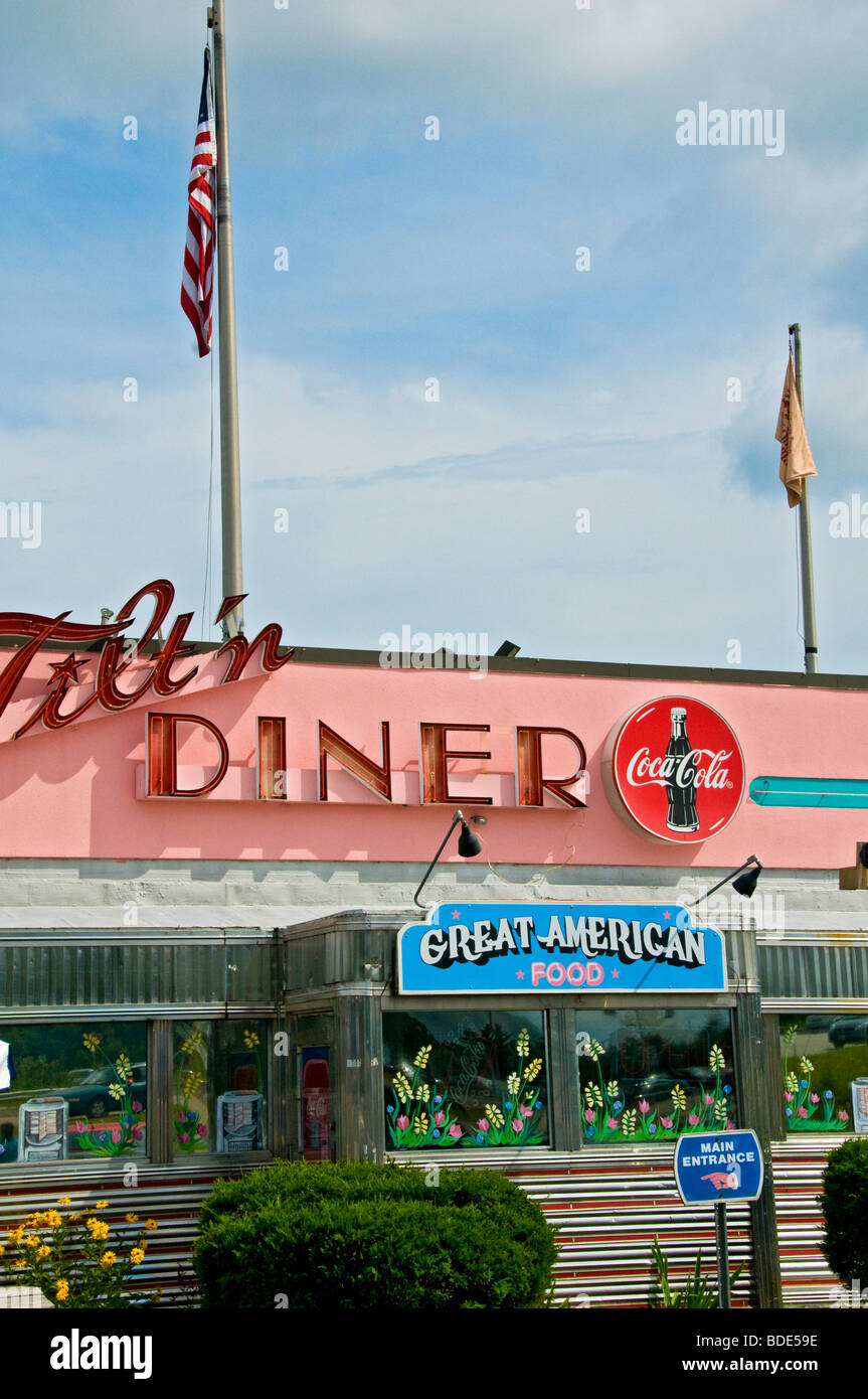 Typical Diner in Tilton New Hampshire - Stock Image