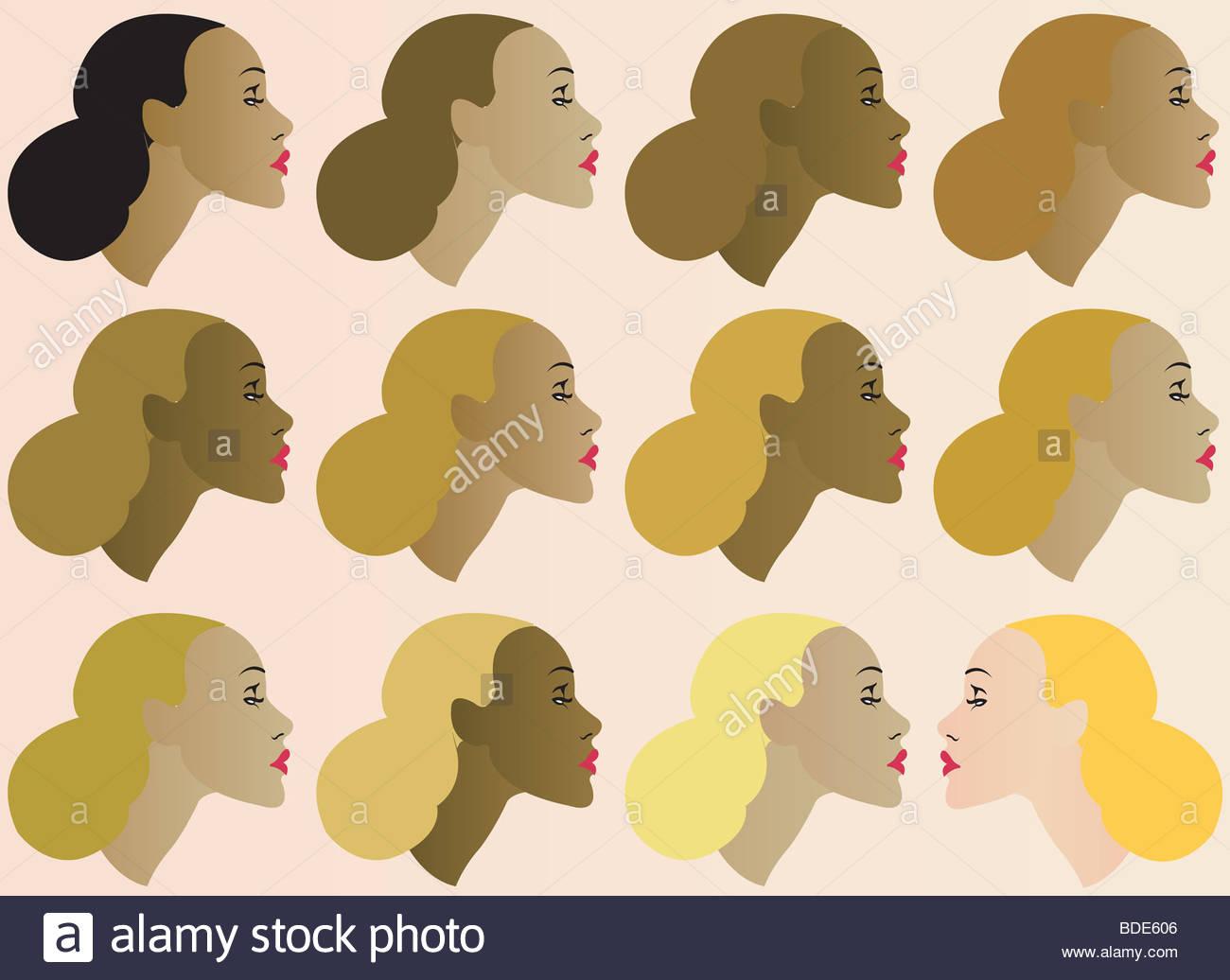 Female Ethnicity - Stock Image