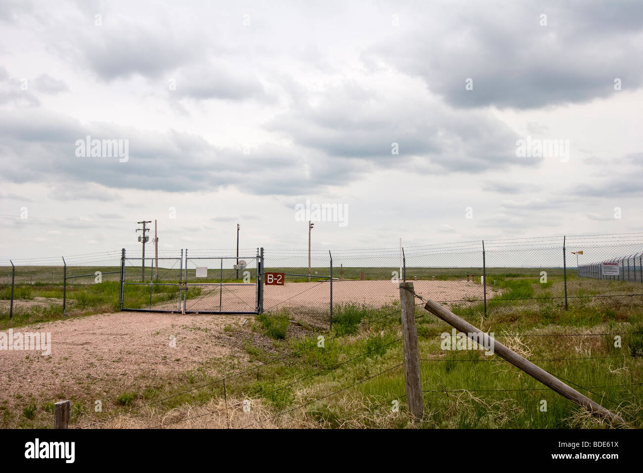 The entrance to a Minuteman 2 nuclear missile silo in Kimball, Nebraska, June 5, 2009. - Stock Image
