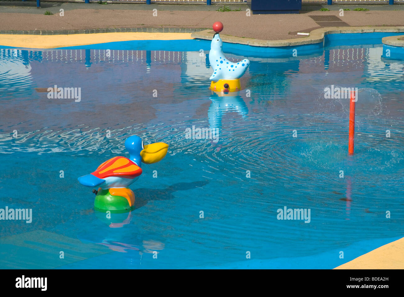swimming pool at Sutton on sea on the Lincolnshire coast - Stock Image