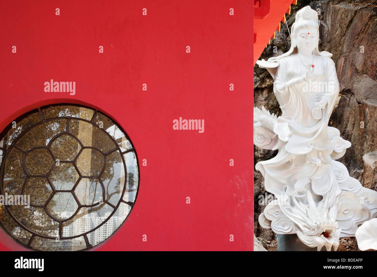 Ten Thousand Buddhas Temple in Sha Tin, Hong Kong, China. - Stock Image