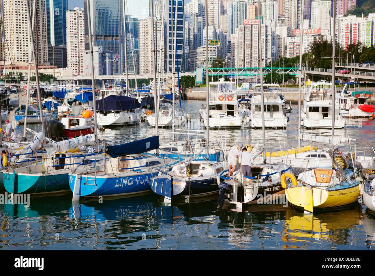Royal Hong Kong Yacht Club in Hong Kong, China. - Stock Image