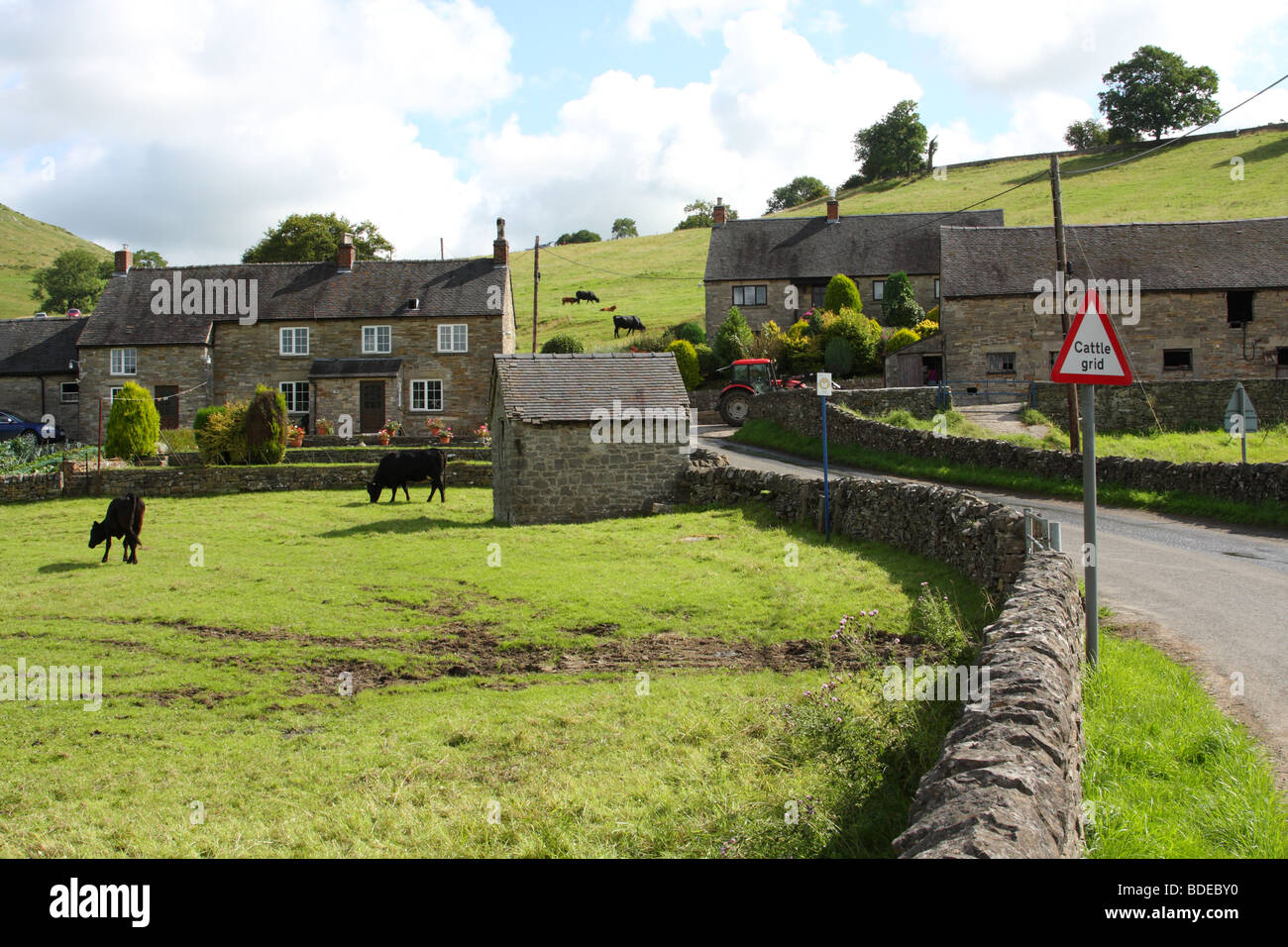 A farm in the Peak District National Park, Derbyshire, England, U.K. - Stock Image