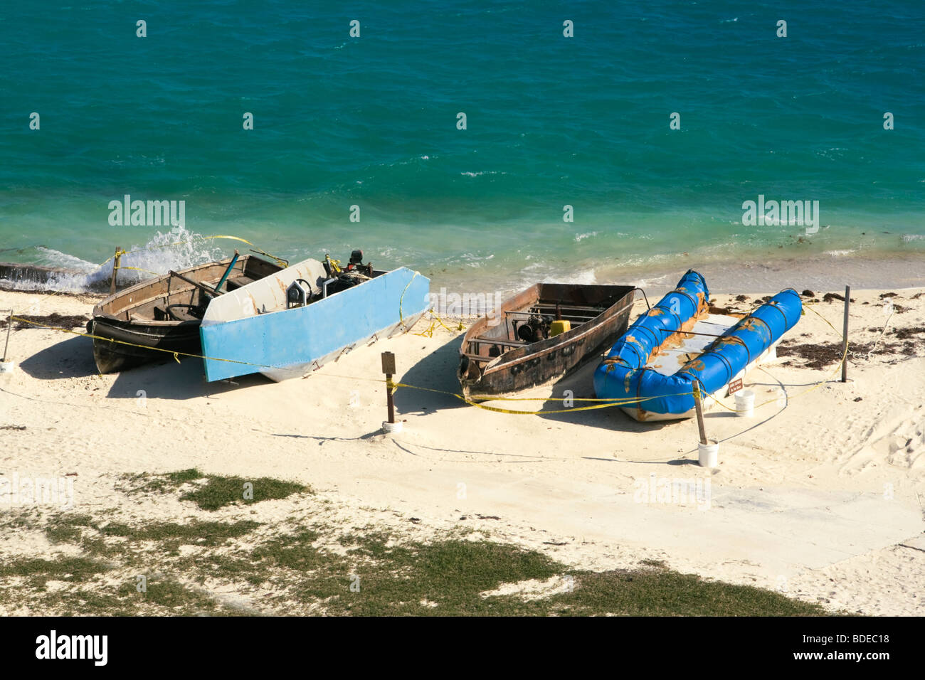 Boats of Cuban Immigrants - Stock Image