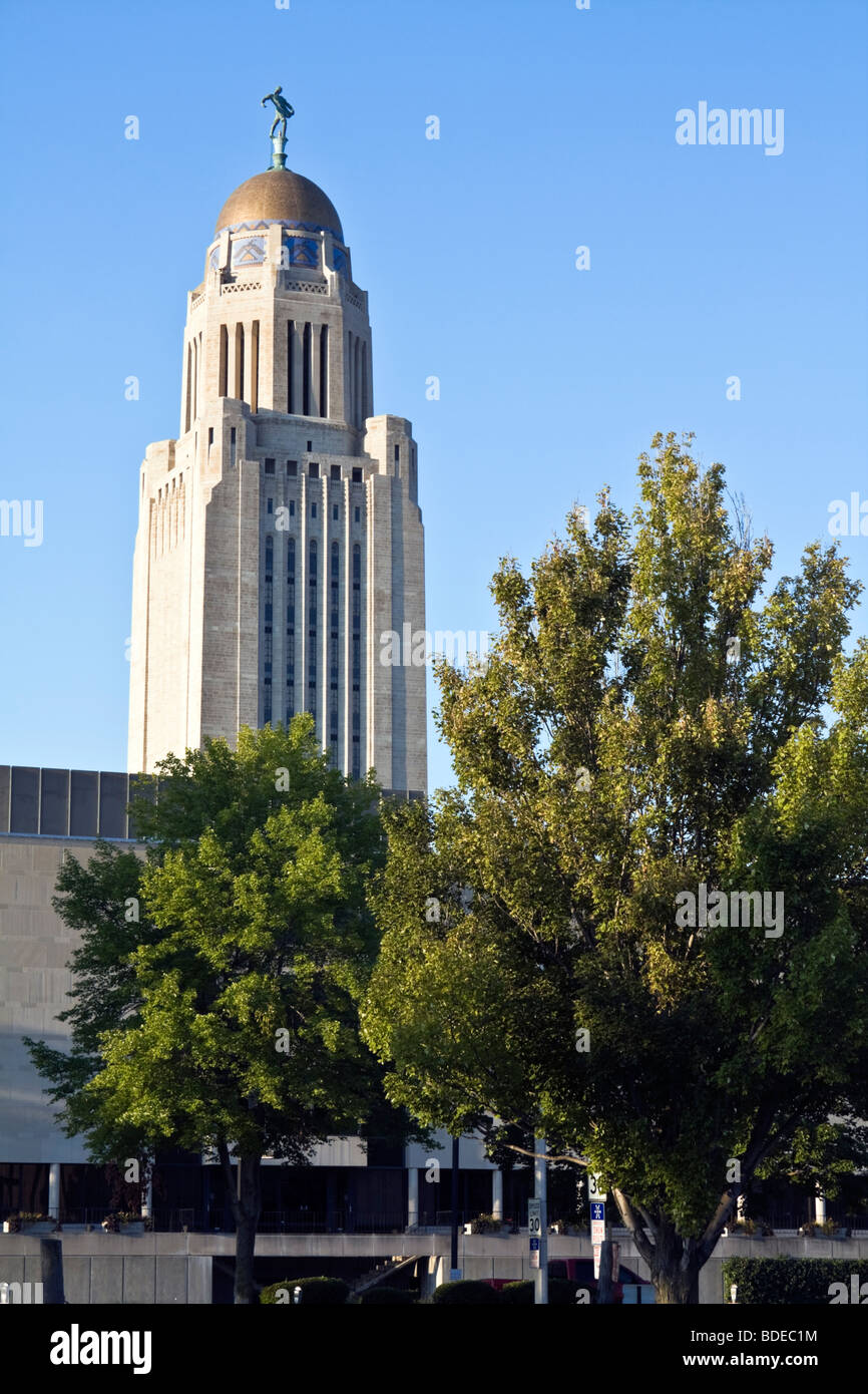 State Capitol of Nebraska Stock Photo