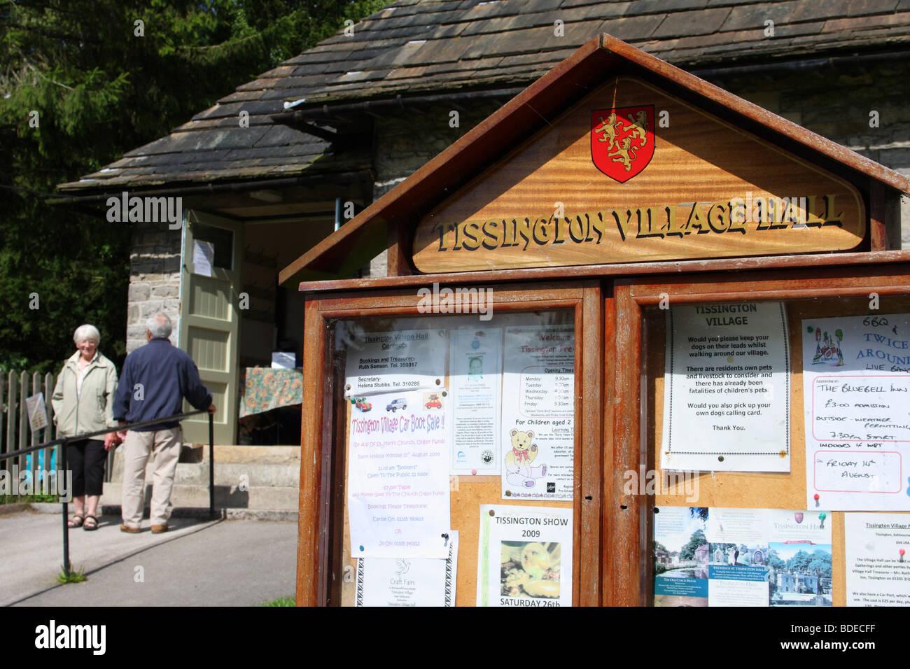 The village hall at Tissington, Derbyshire, England, U.K. - Stock Image