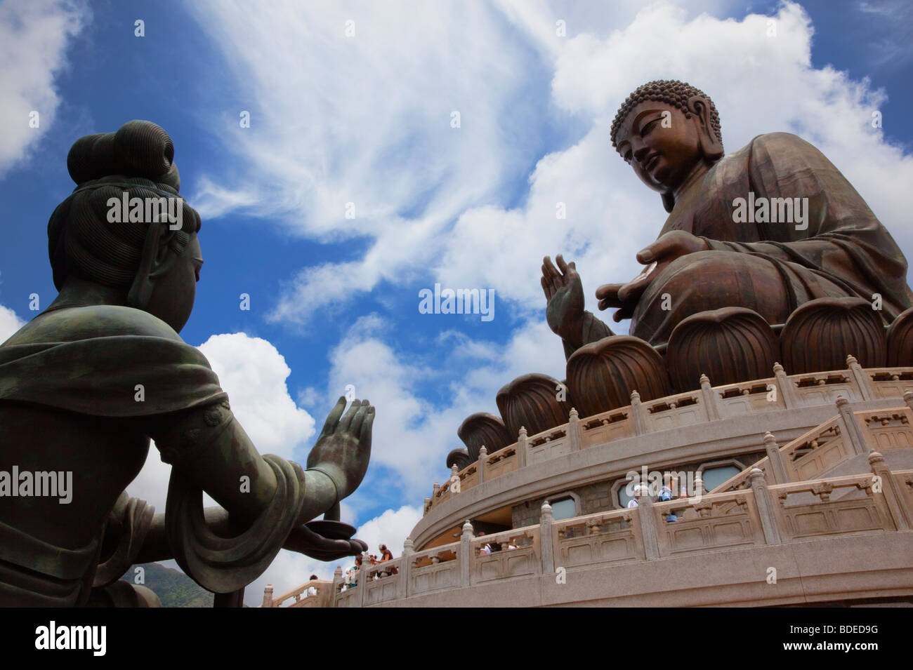 Giant Buddha, Po Lin Monastery, Hong Kong, China. - Stock Image