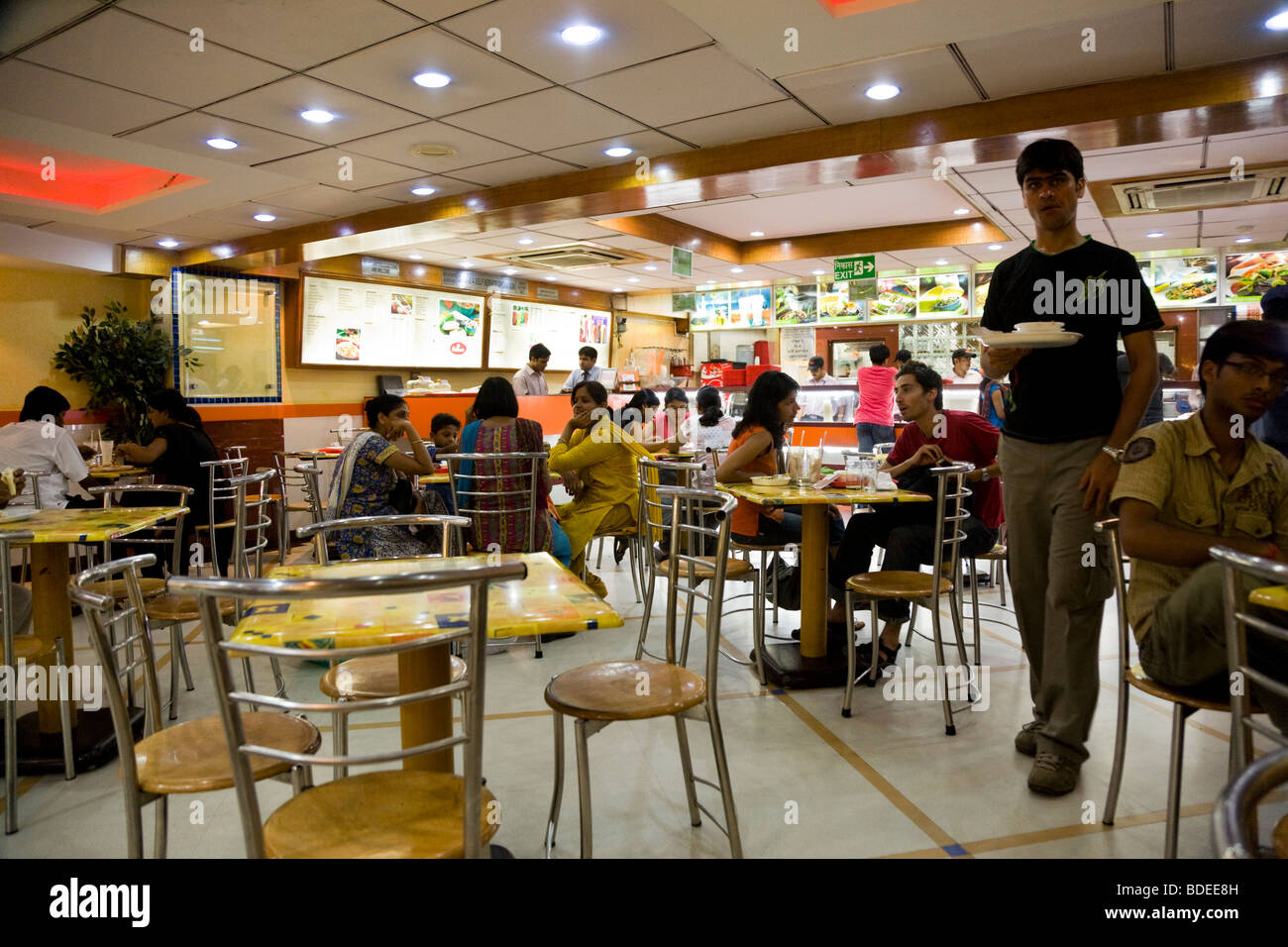Fast Food Restaurant Tables Stock Photos & Fast Food Restaurant
