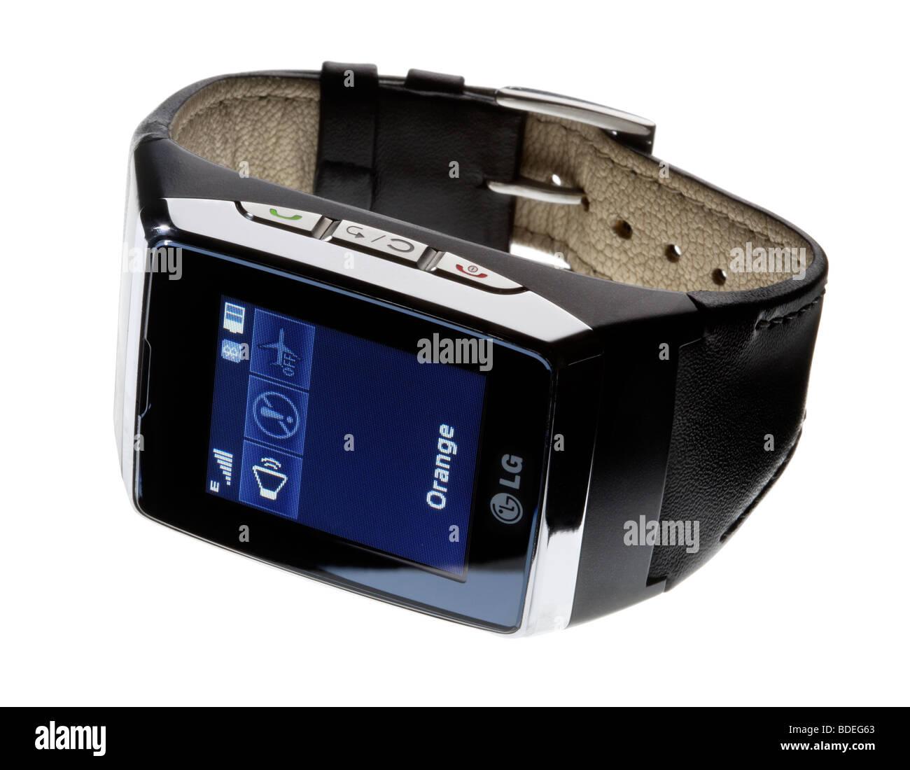 LG wristwatch mobile phone - Stock Image
