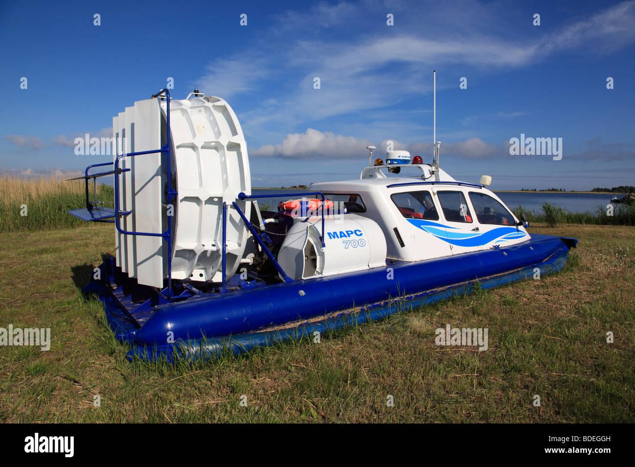 hovercraft  at the port Munalaiu near Paernu, Estonia, Baltic Nation, Eastern Europe.Photo by Willy Matheisl - Stock Image