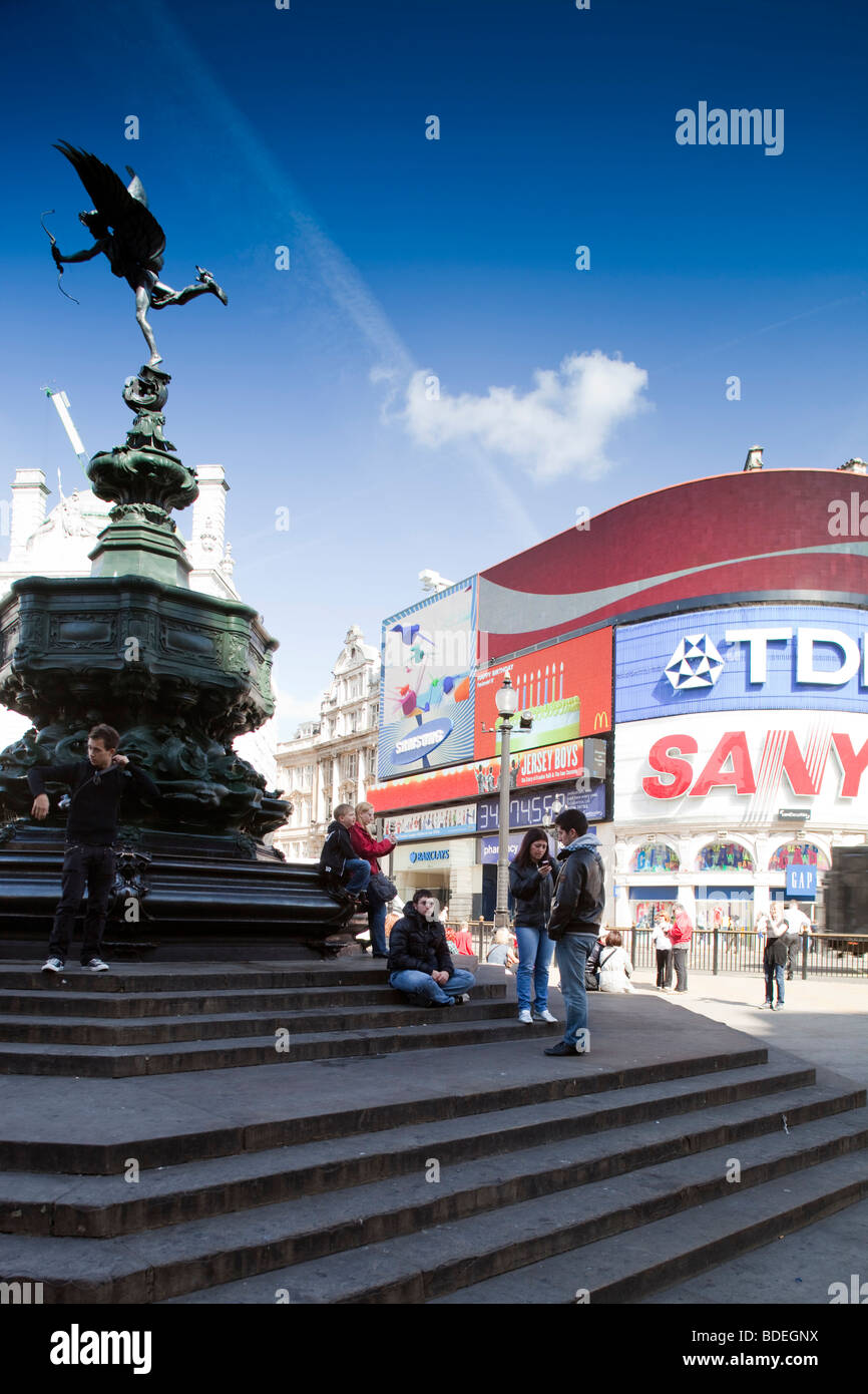 Picadilly Circus, Westminster, London, England, United Kingdom - Stock Image