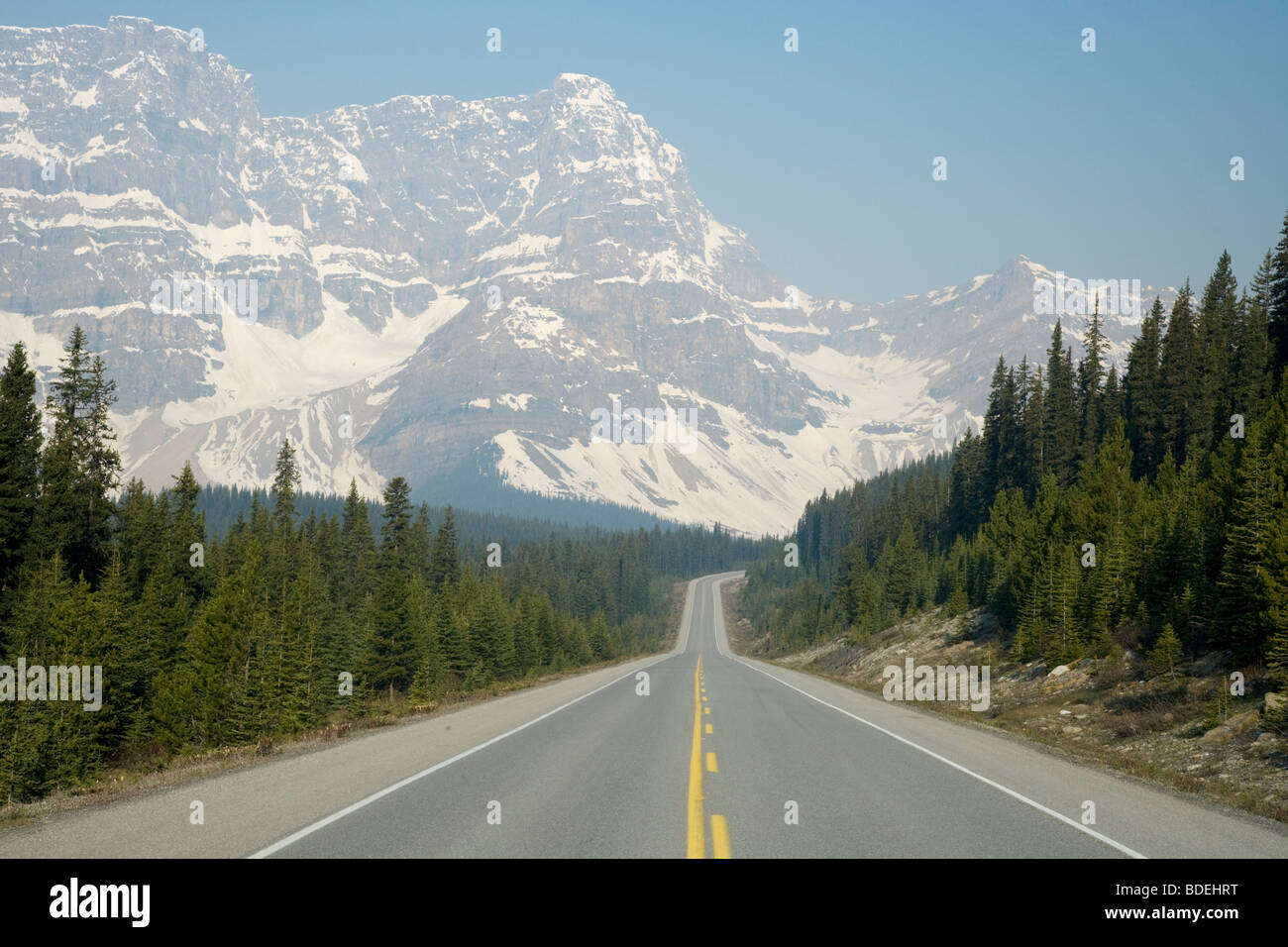 Icefields Parkway Banff National Park Alberta, Canada LA004226 Stock Photo