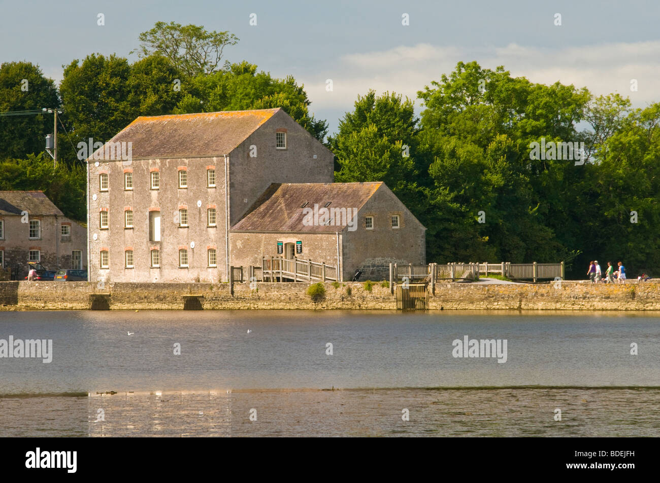 Carew Tidal Mill in Pembrokeshire West Wales Stock Photo