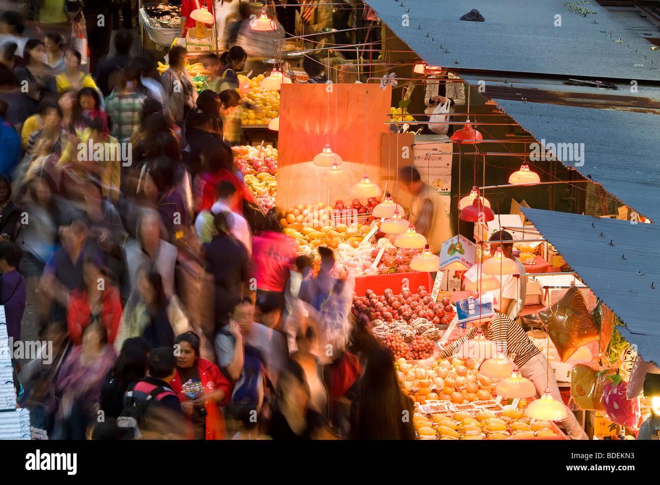China, Hong Kong. Fa Yuen St Market, - Stock Image
