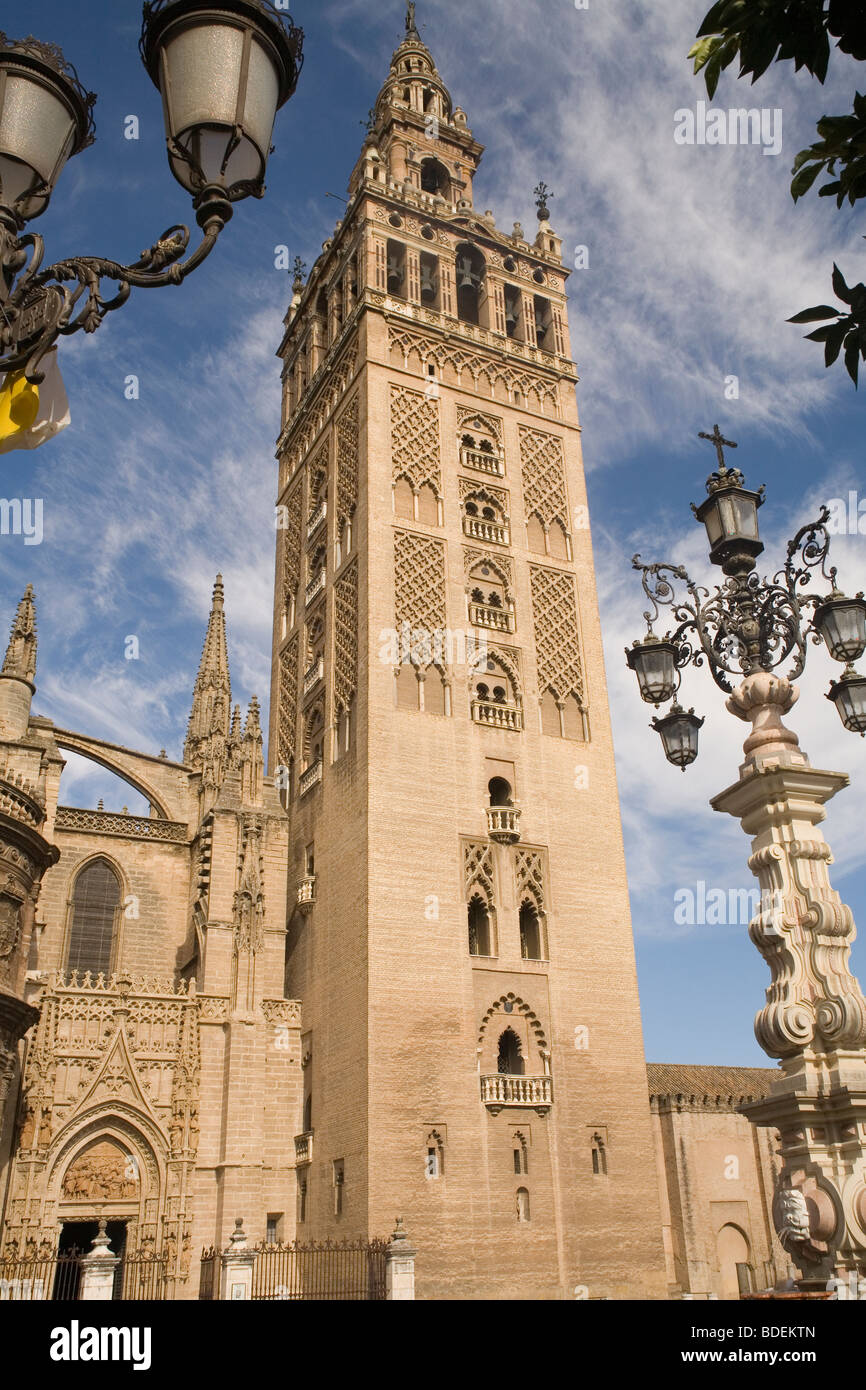 Spain Andalucia Seville Cathedral Giralda - Stock Image