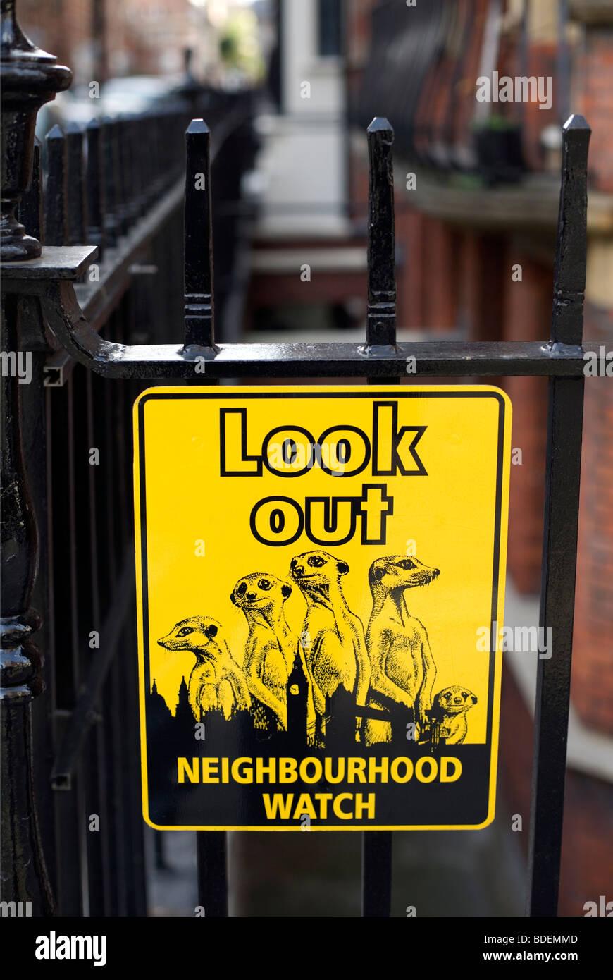 Neighbourhood Watch sign, London, England, UK, Europe - Stock Image