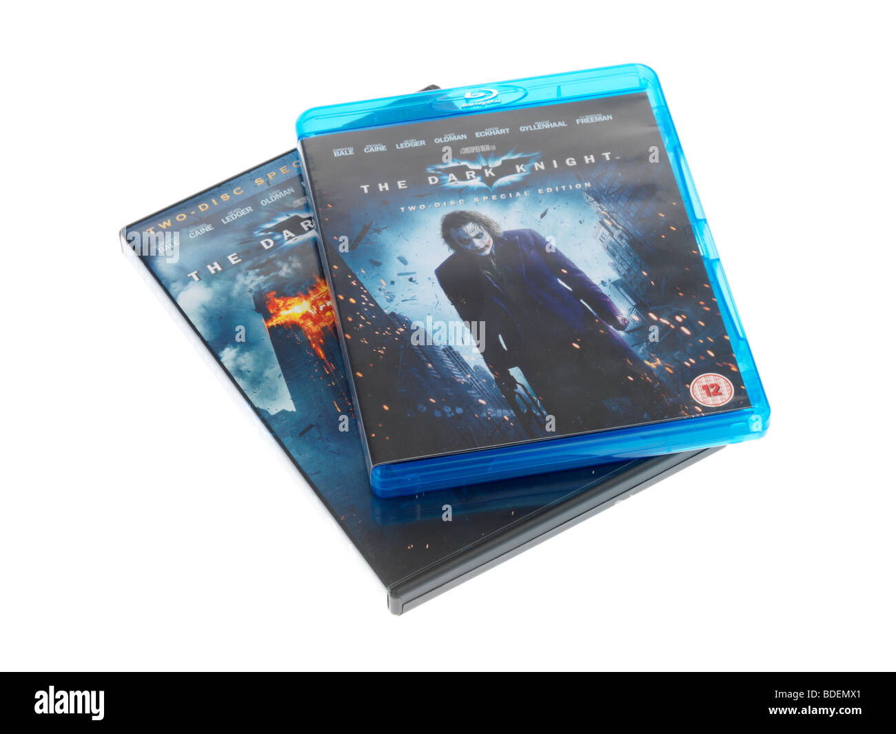 Blu Ray Disc and DVD - Stock Image