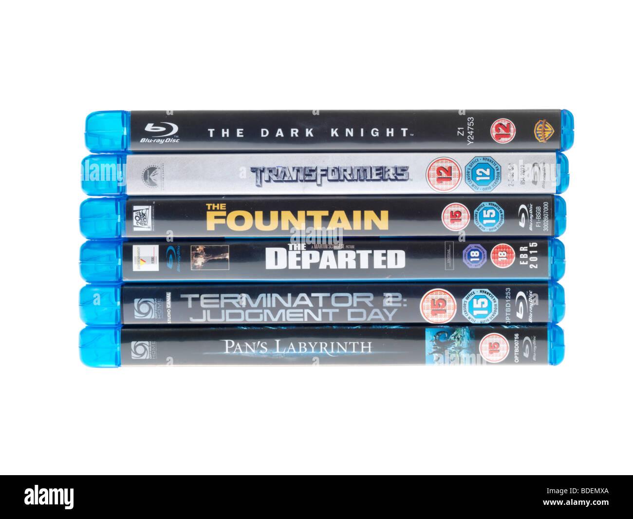 Blu Ray Discs - Stock Image