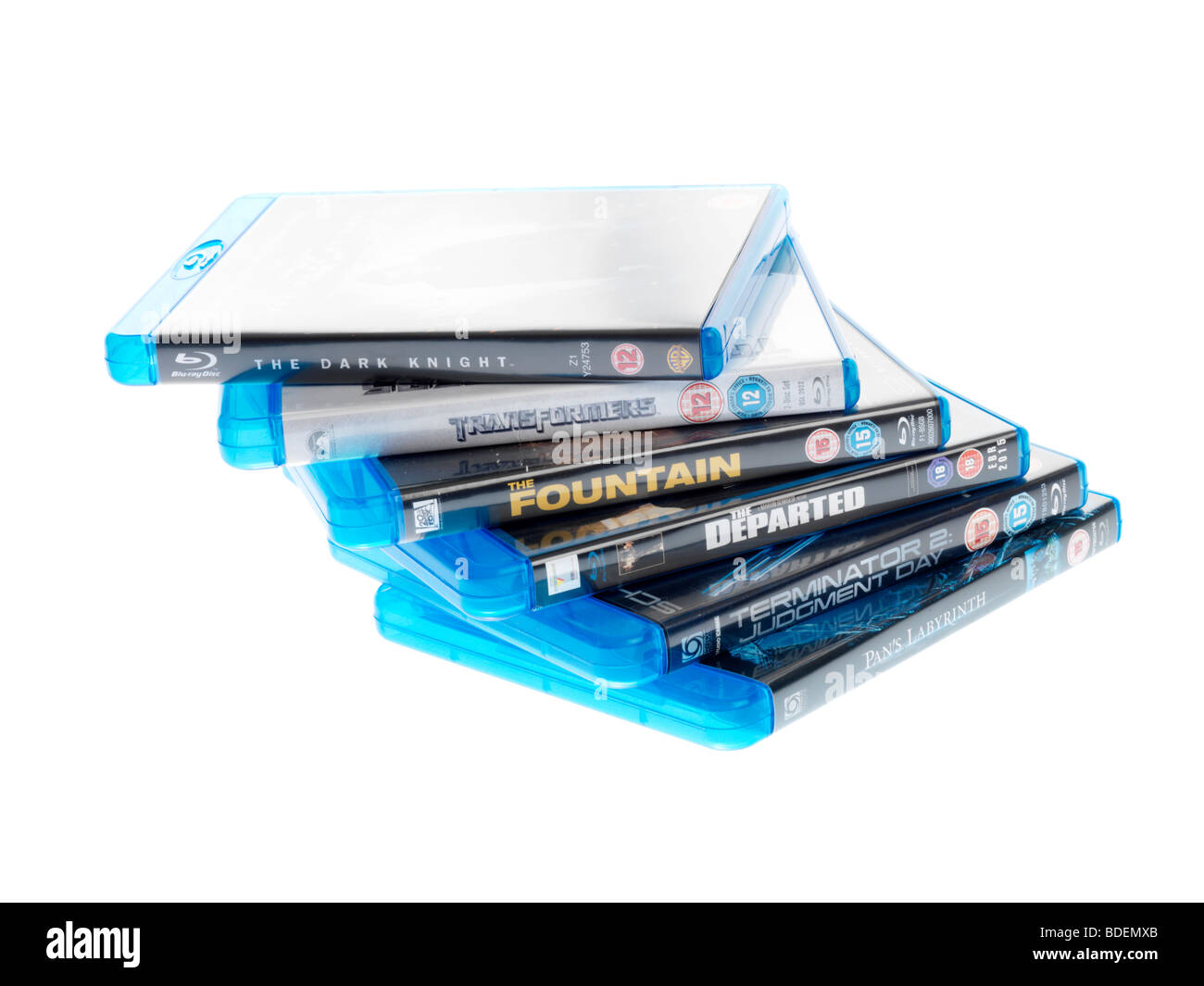 Blu Ray Discs - Stock Image
