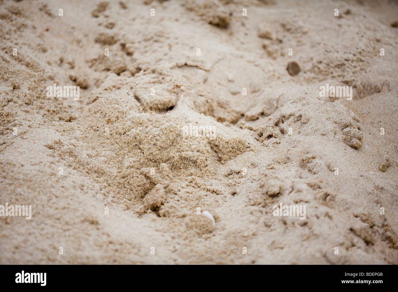 Sand on the beach - Stock Image
