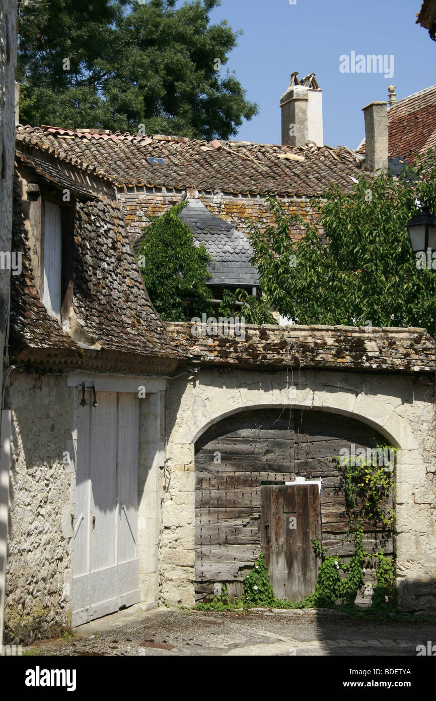 Medieval Bastide of Issigeac, Perigord Pourpre Stock Photo