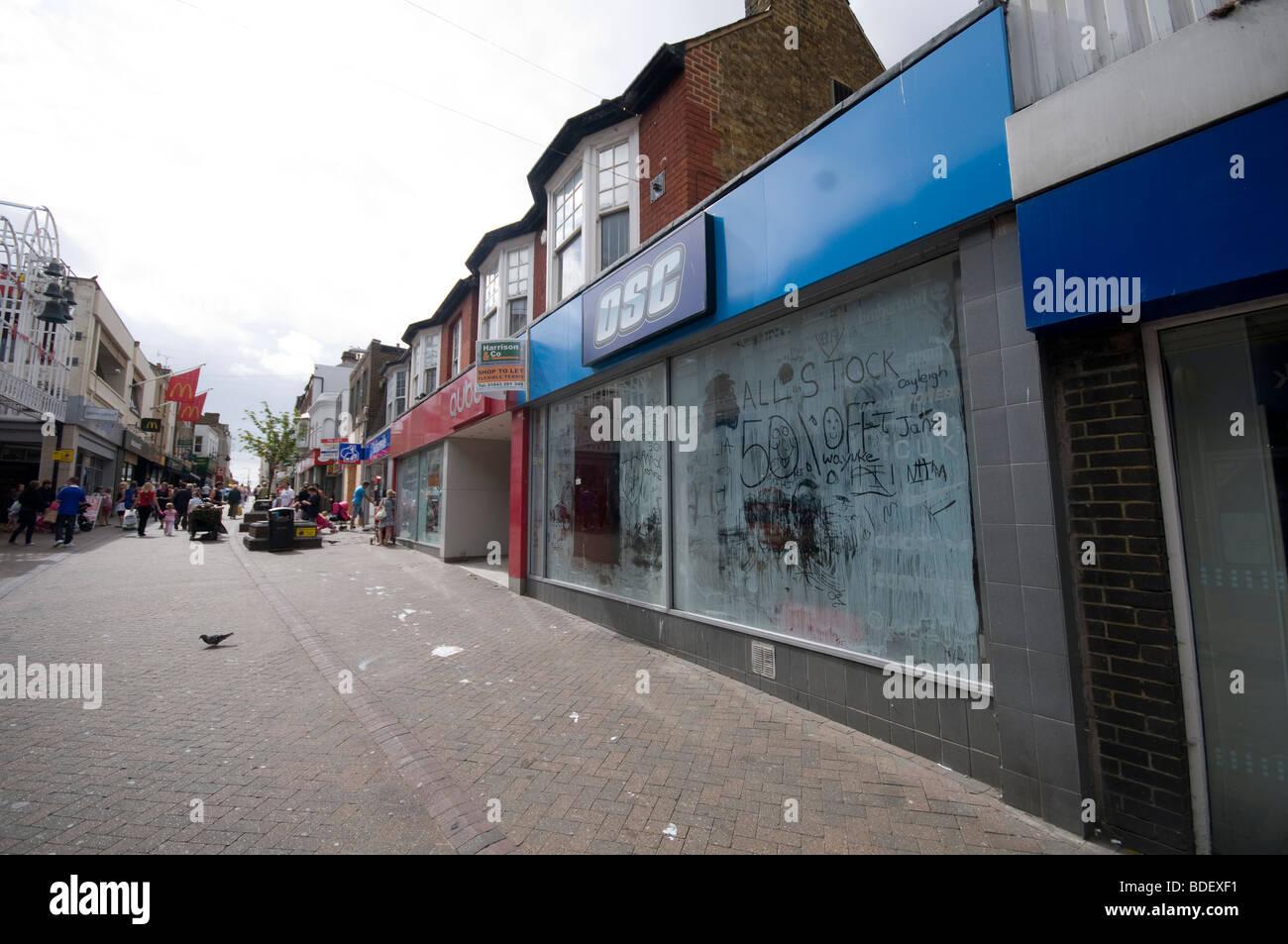 Margate High street empty shops - Stock Image